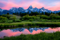 Teton Sunrise reflection @ Blacktail Pond--June 2014-
